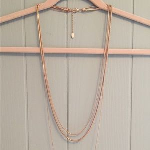 Rose Gold Layered Necklace
